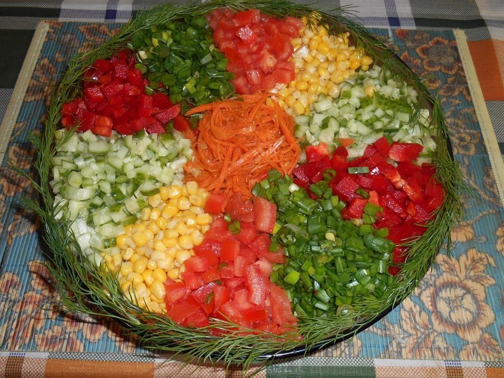 рецепт салата кучками с фото центры
