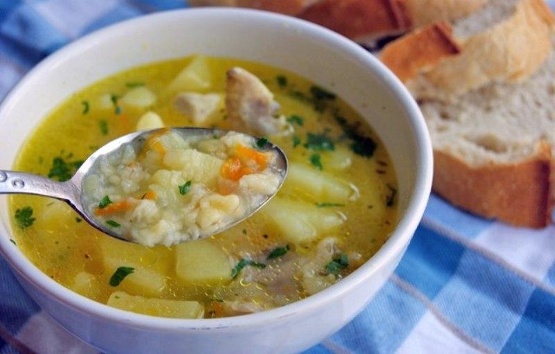 Суп из пшена с говядиной фото