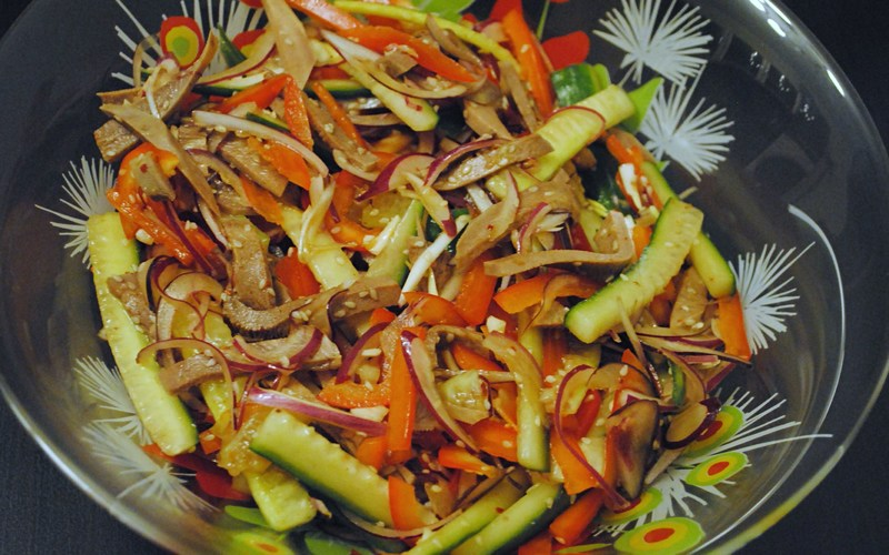 Салат из свиных языков рецепт