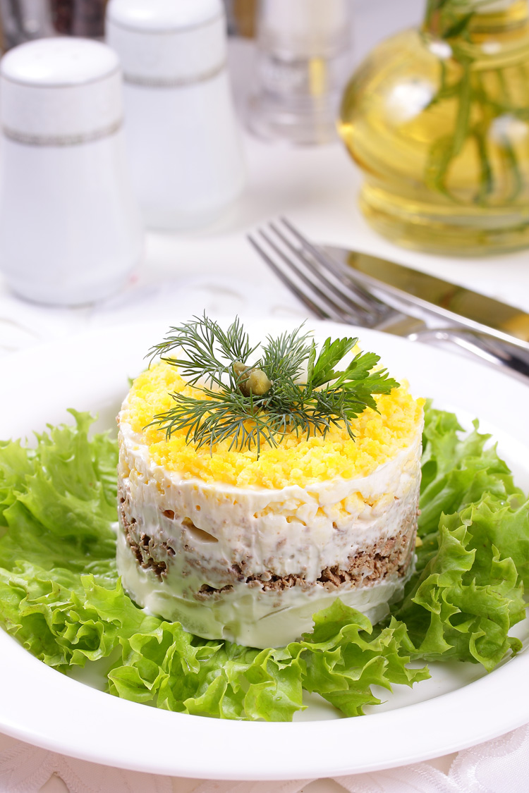 Салат мимоза рецепт с фото с курицей