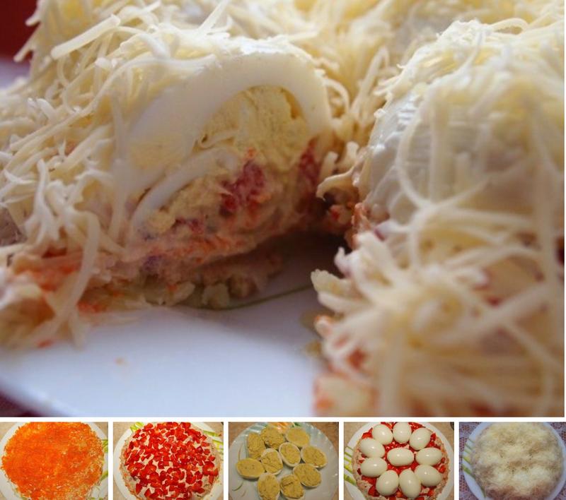 салат сугробы пошаговый рецепт с фото прекланяюсь